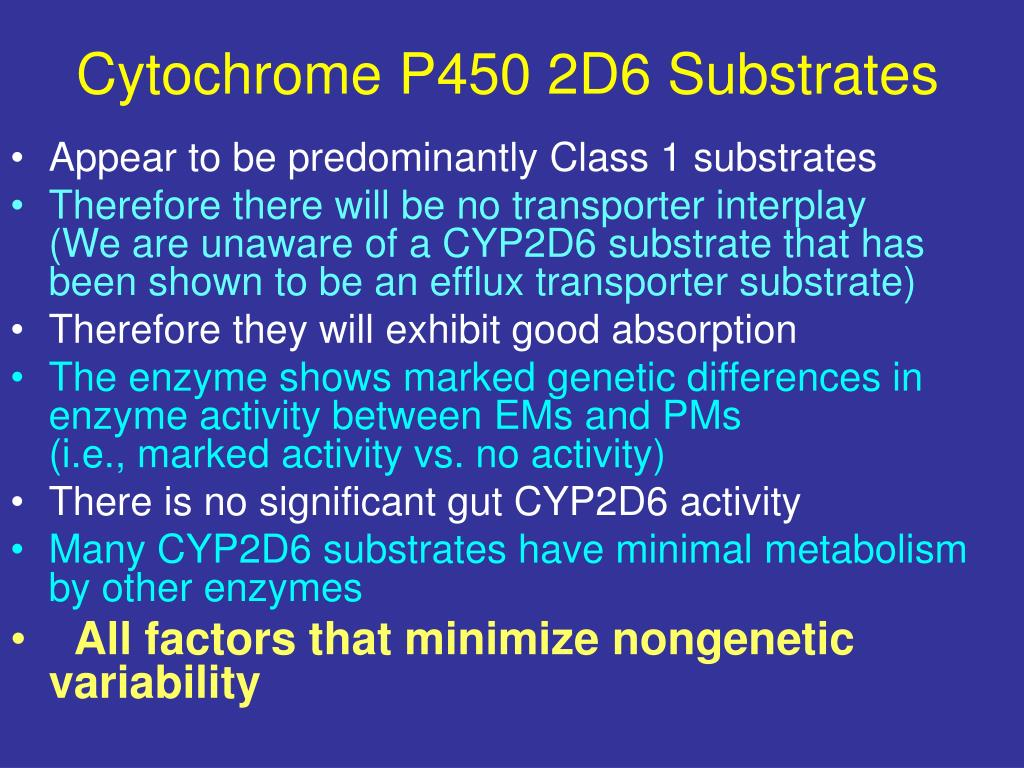 Cytochrome P450 2D6 Substrates