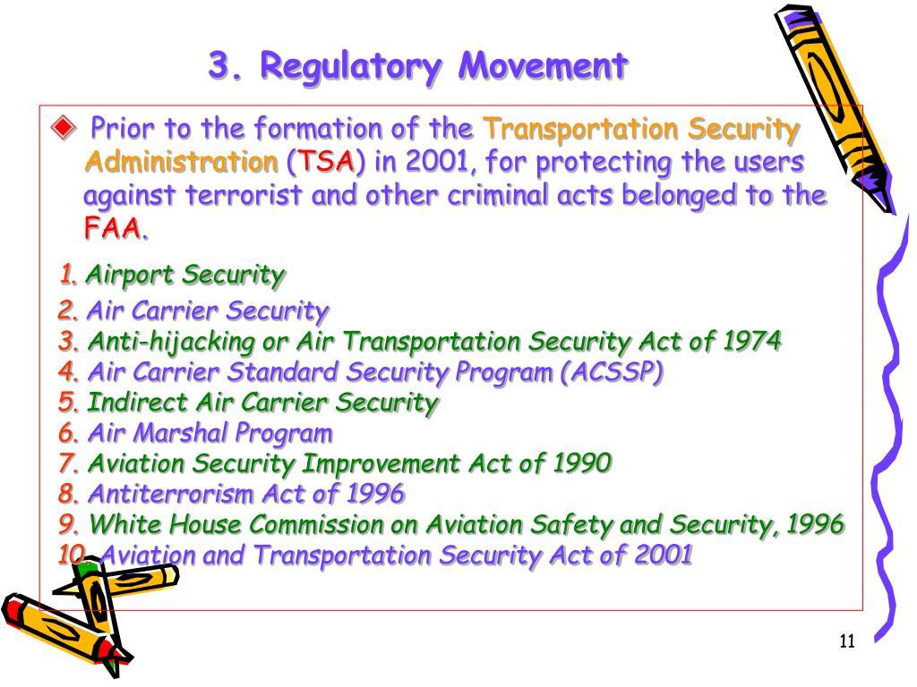 3. Regulatory Movement