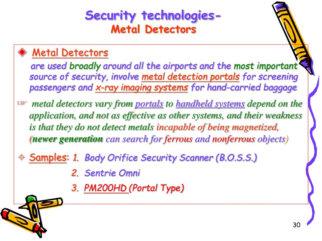 Security technologies-