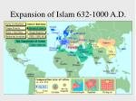 expansion of islam 632 1000 a d