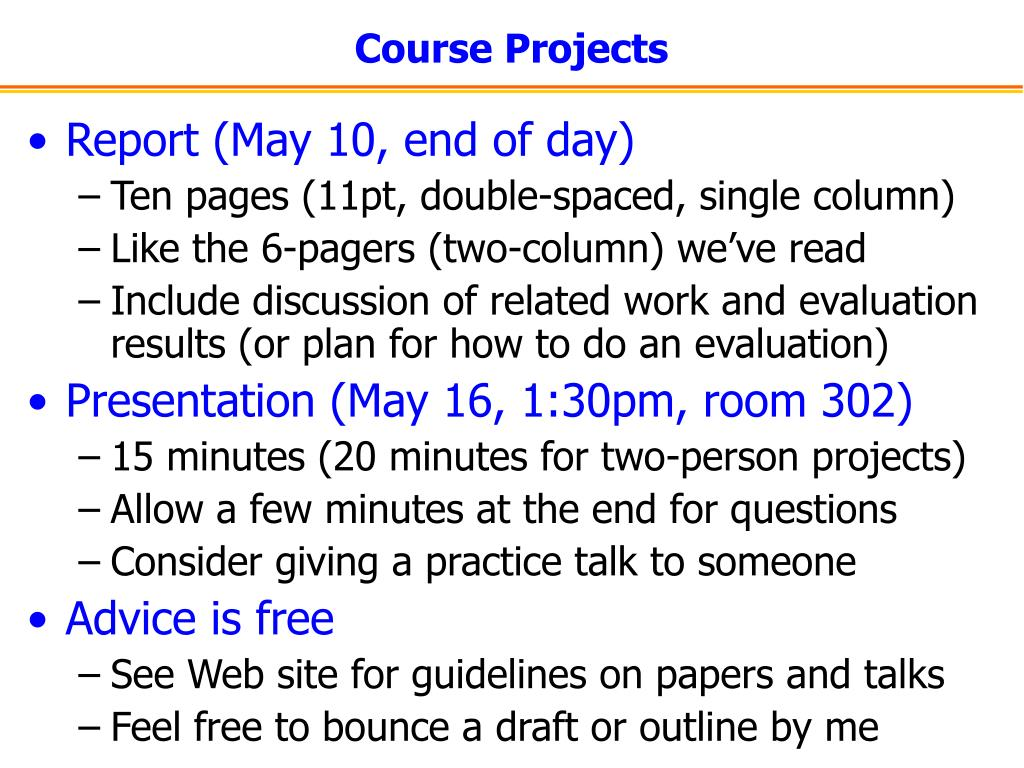 Course Projects