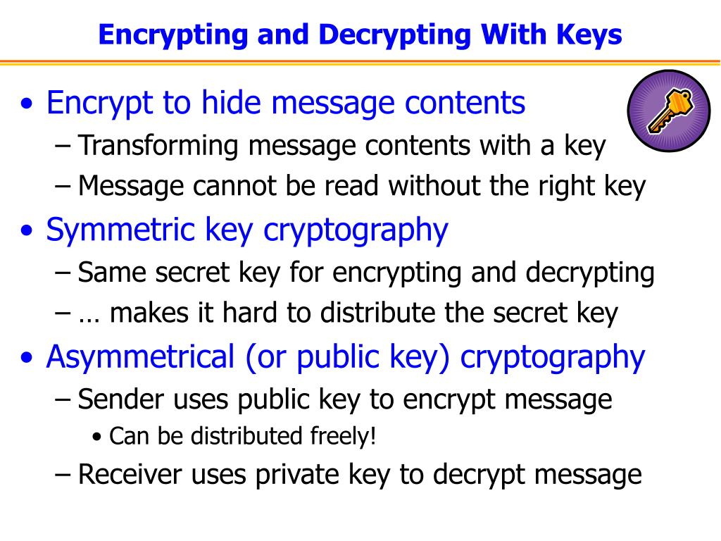 Encrypting and Decrypting With Keys