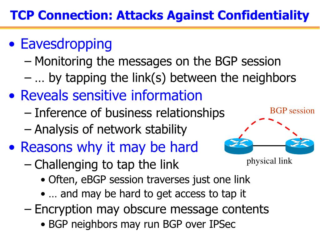 TCP Connection: Attacks Against Confidentiality