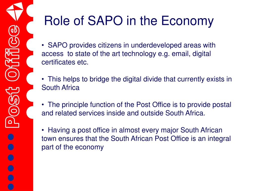 Role of SAPO in the Economy