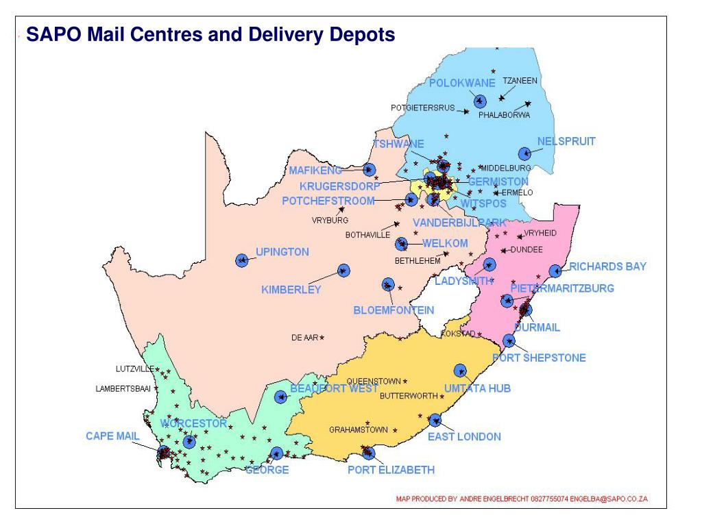 SAPO Mail Centres and Delivery Depots