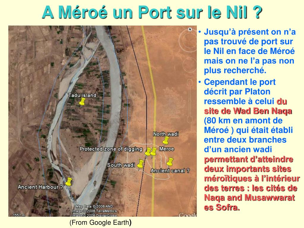 A Méroé un Port sur le Nil ?