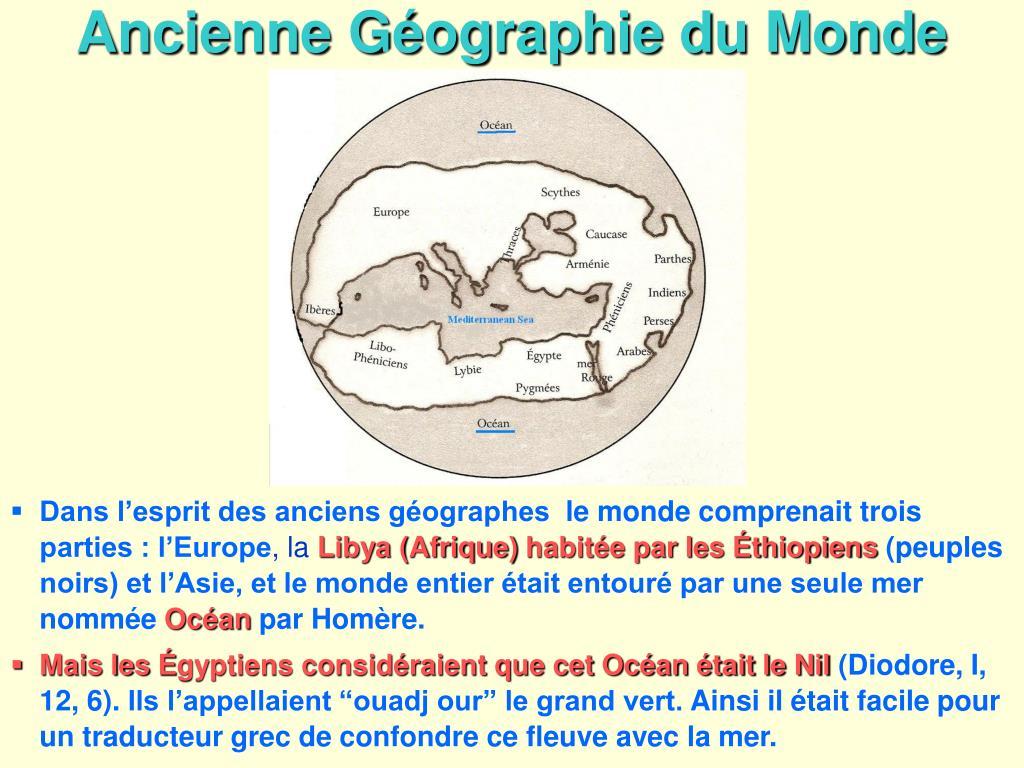 Ancienne Géographie du Monde
