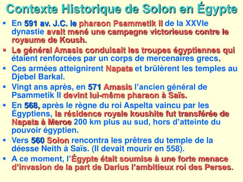 Contexte Historique de Solon en