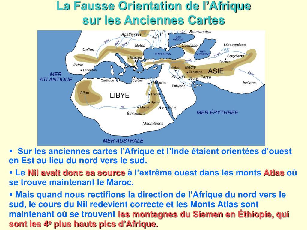 La Fausse Orientation de l'Afrique