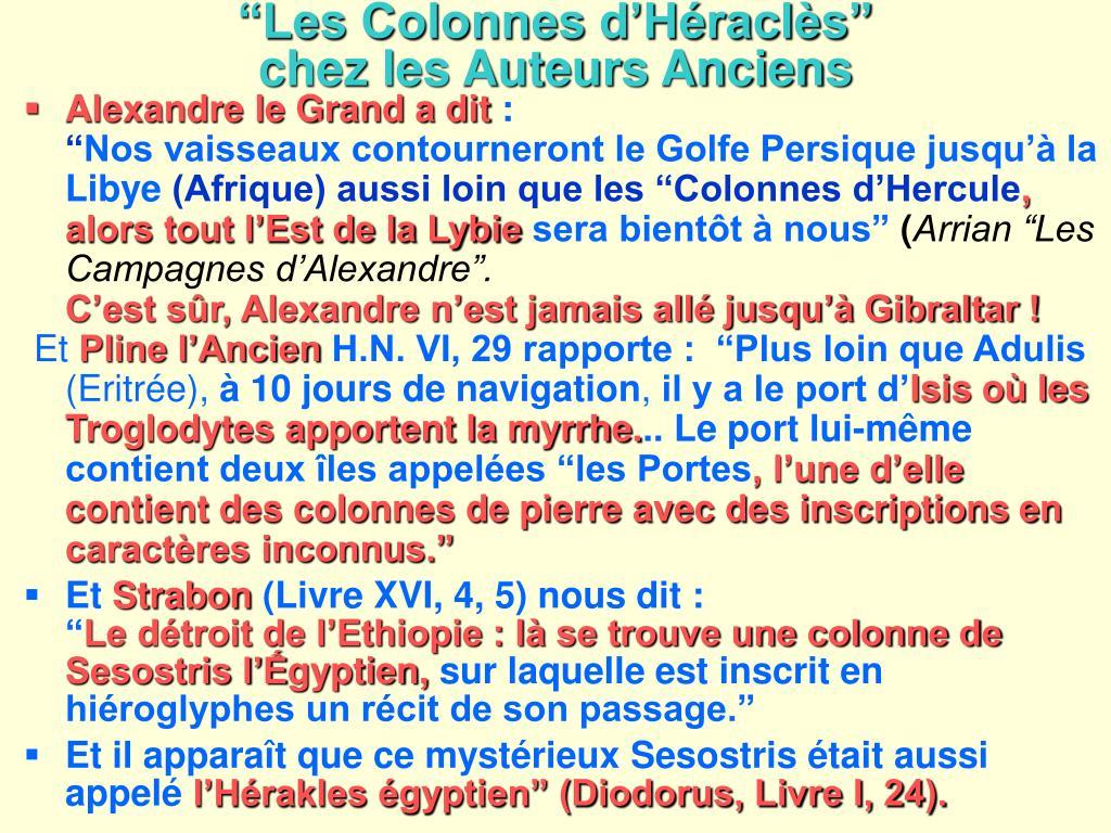 """""""Les Colonnes d'Héraclès"""""""