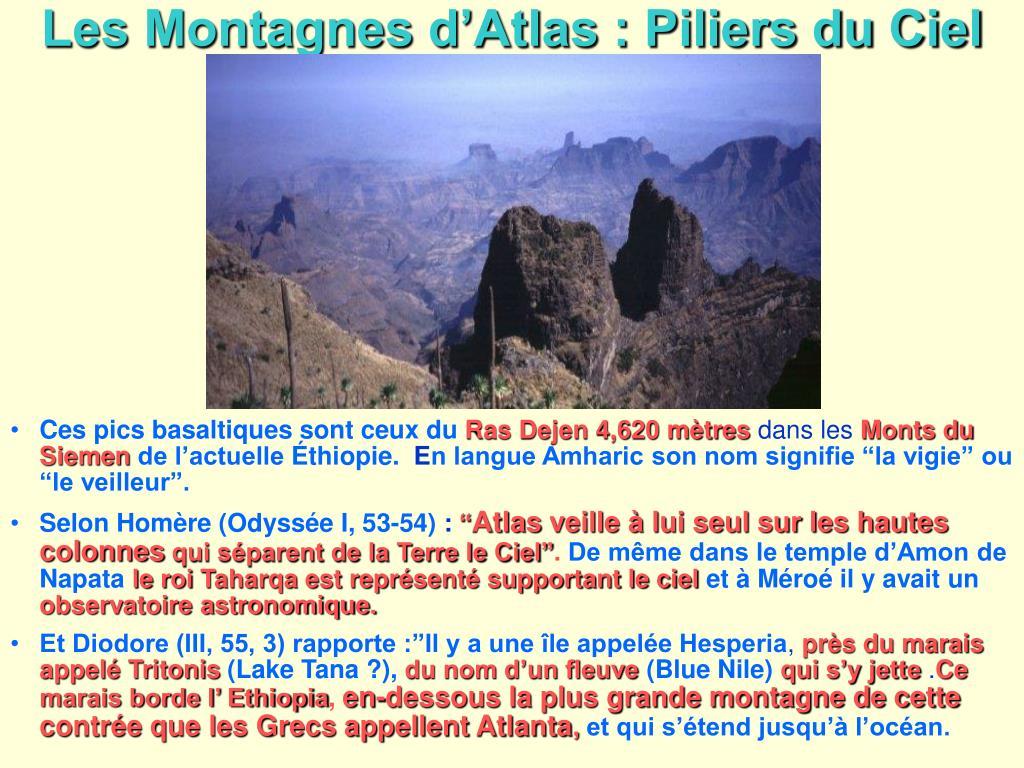 Les Montagnes d'Atlas : Piliers du Ciel