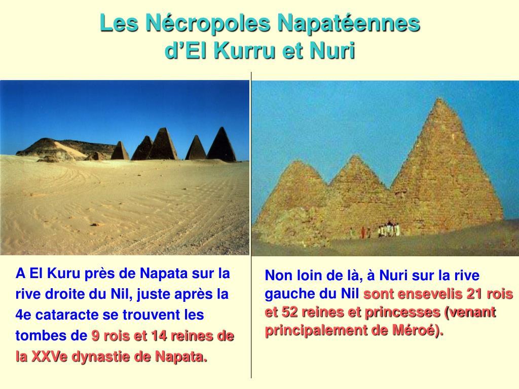 Les Nécropoles Napatéennes