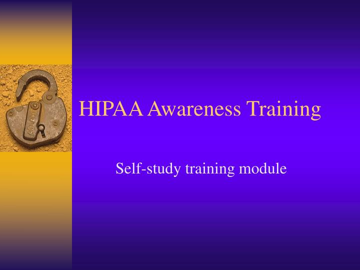hipaa awareness training n.