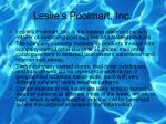 leslie s poolmart inc