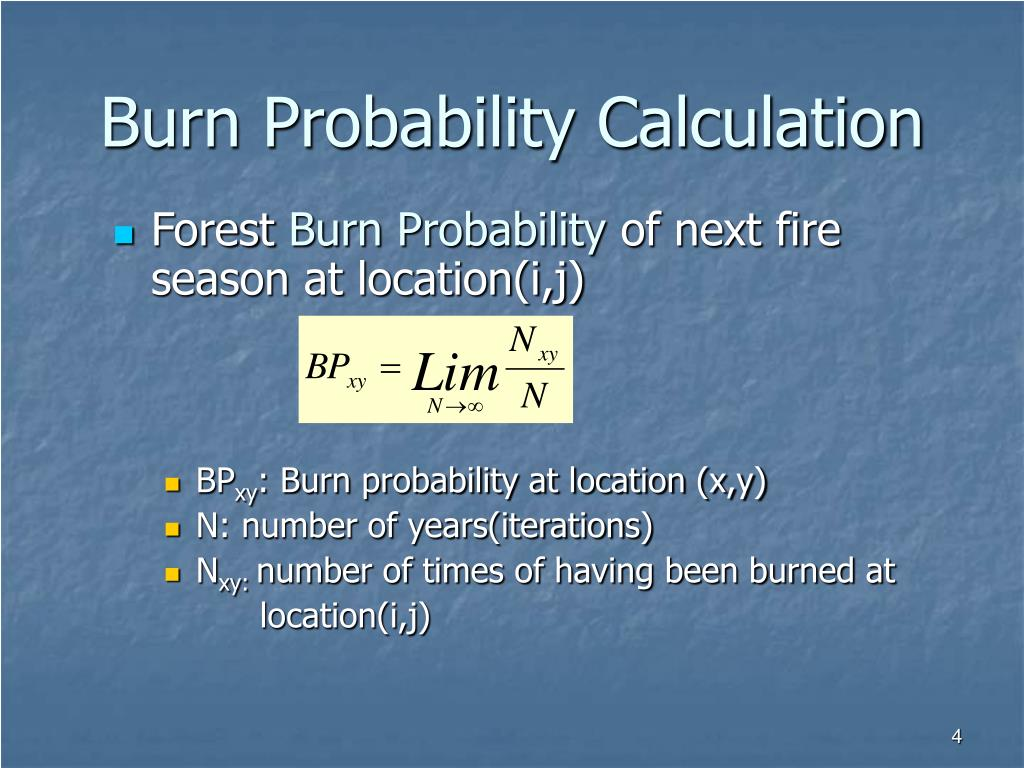Burn Probability Calculation