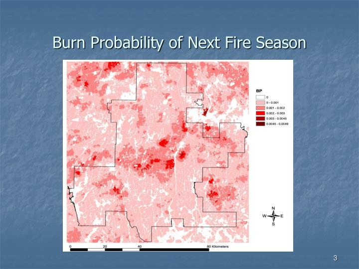Burn probability of next fire season