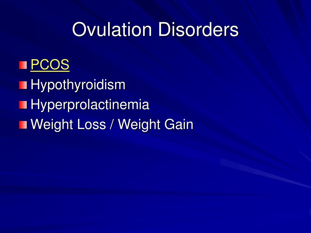 Ovulation Disorders