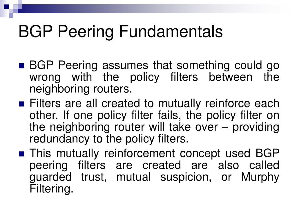 BGP Peering Fundamentals