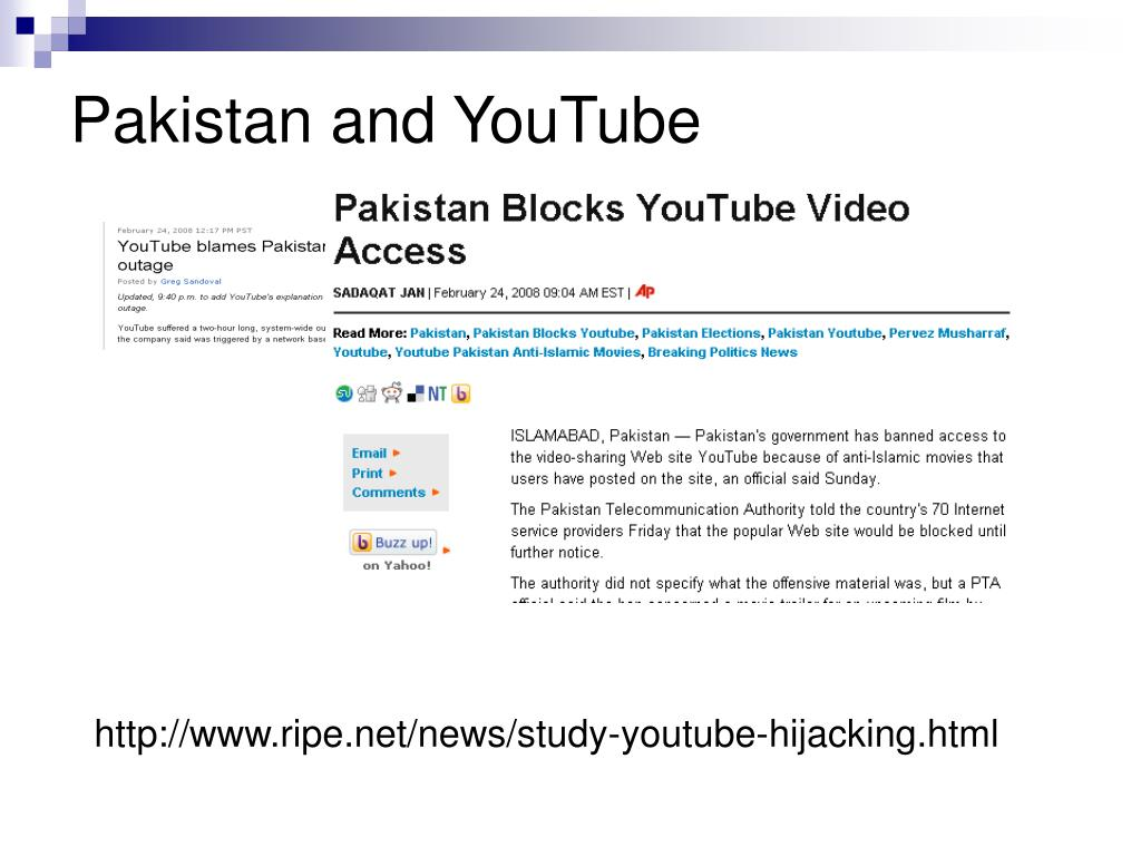 Pakistan and YouTube