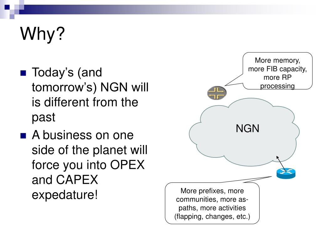 Today's (and tomorrow's) NGN will is different from the past
