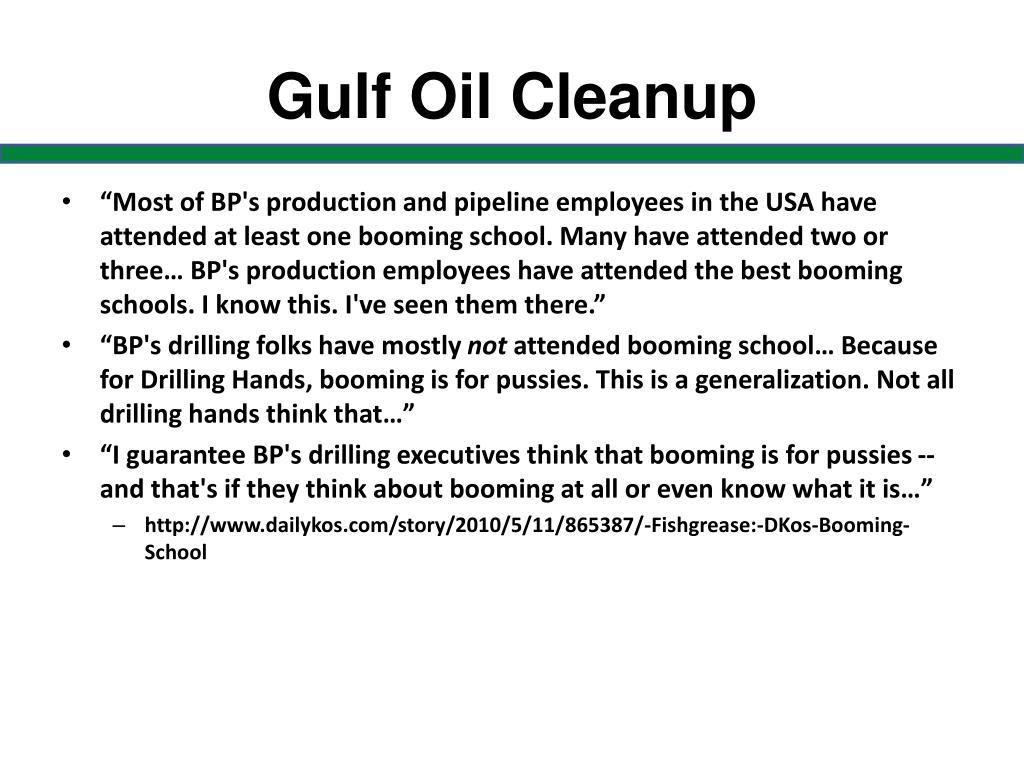Gulf Oil Cleanup
