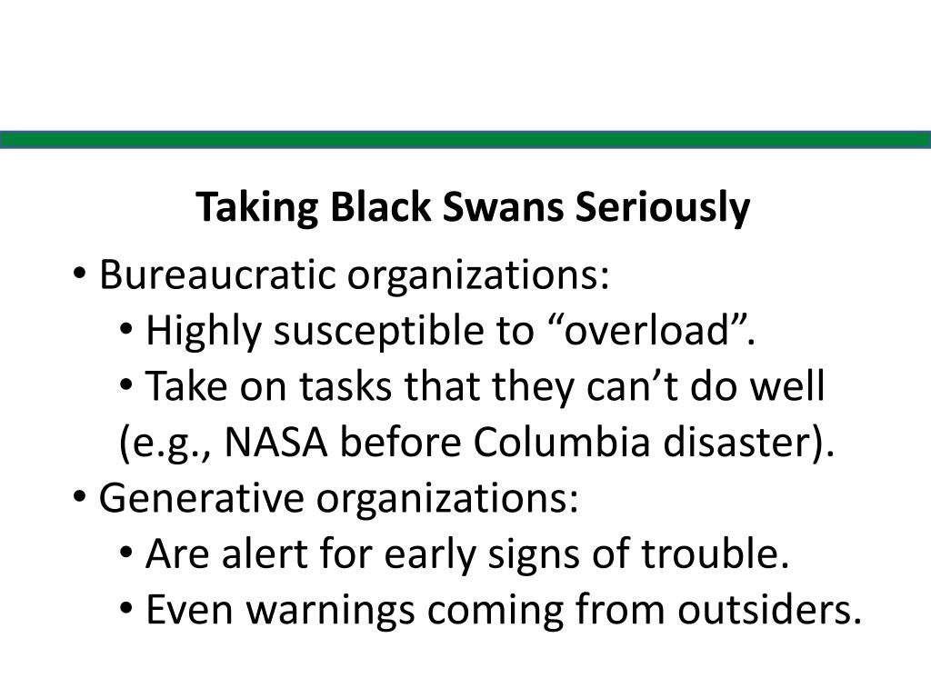 Taking Black Swans Seriously