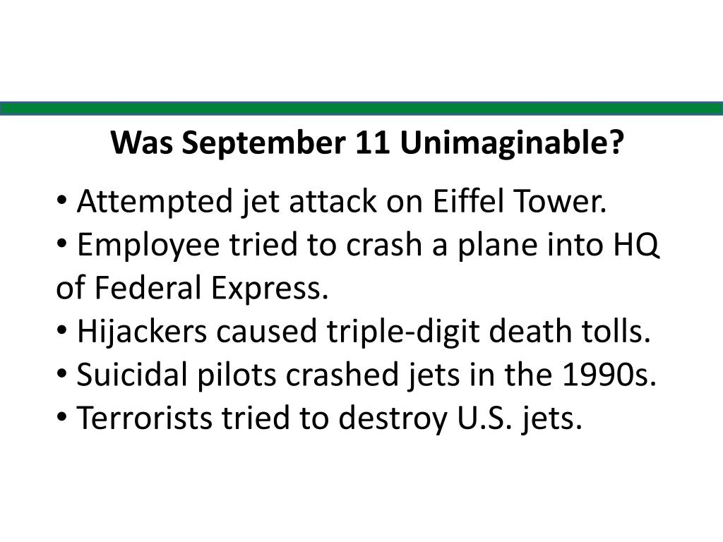 Was September 11 Unimaginable?