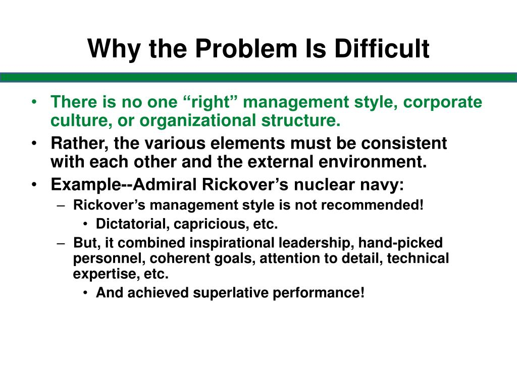 Why the Problem Is Difficult
