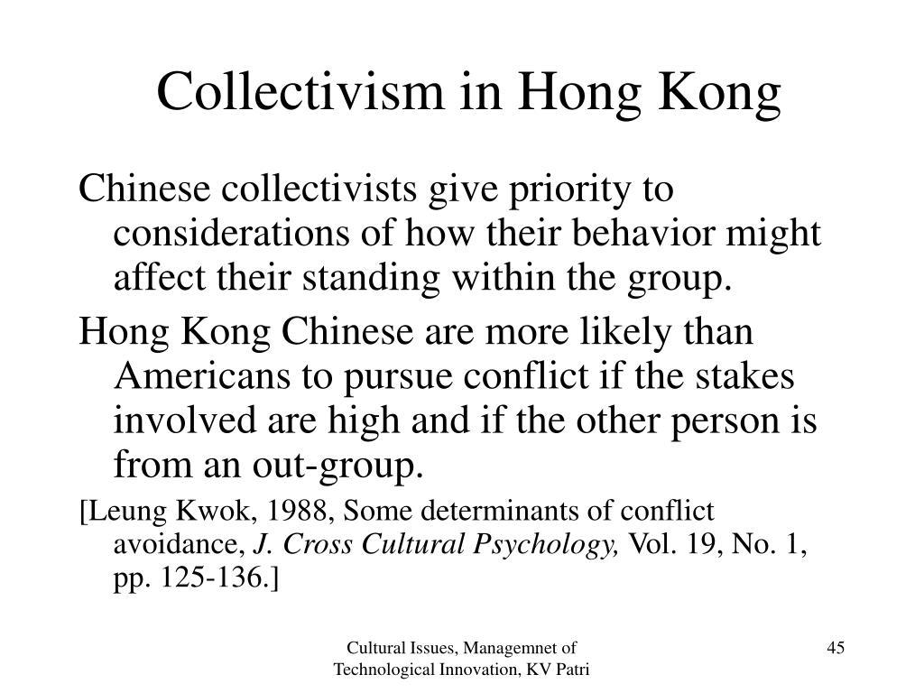 Collectivism in Hong Kong