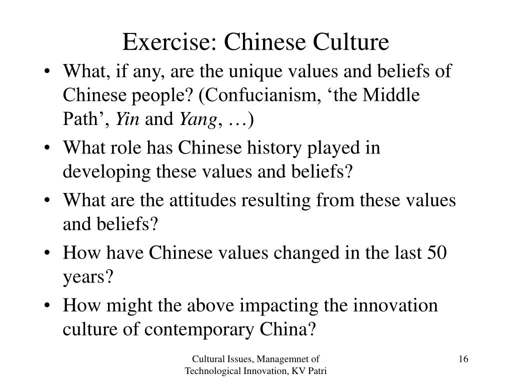 Exercise: Chinese Culture