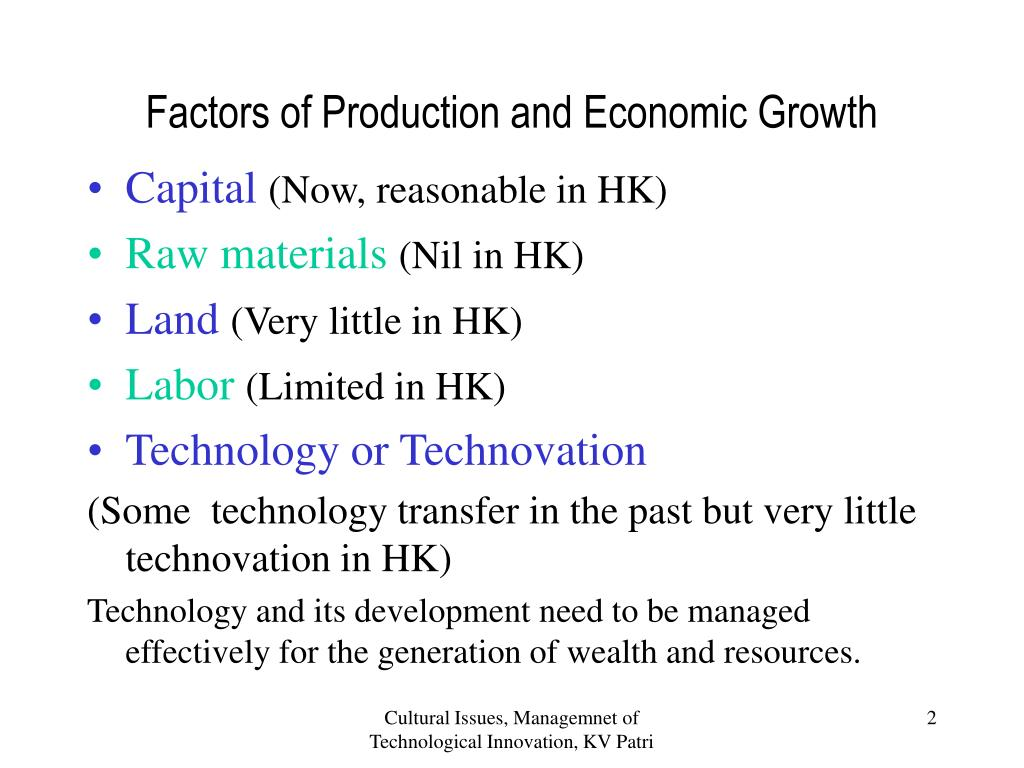 Factors of Production and Economic Growth