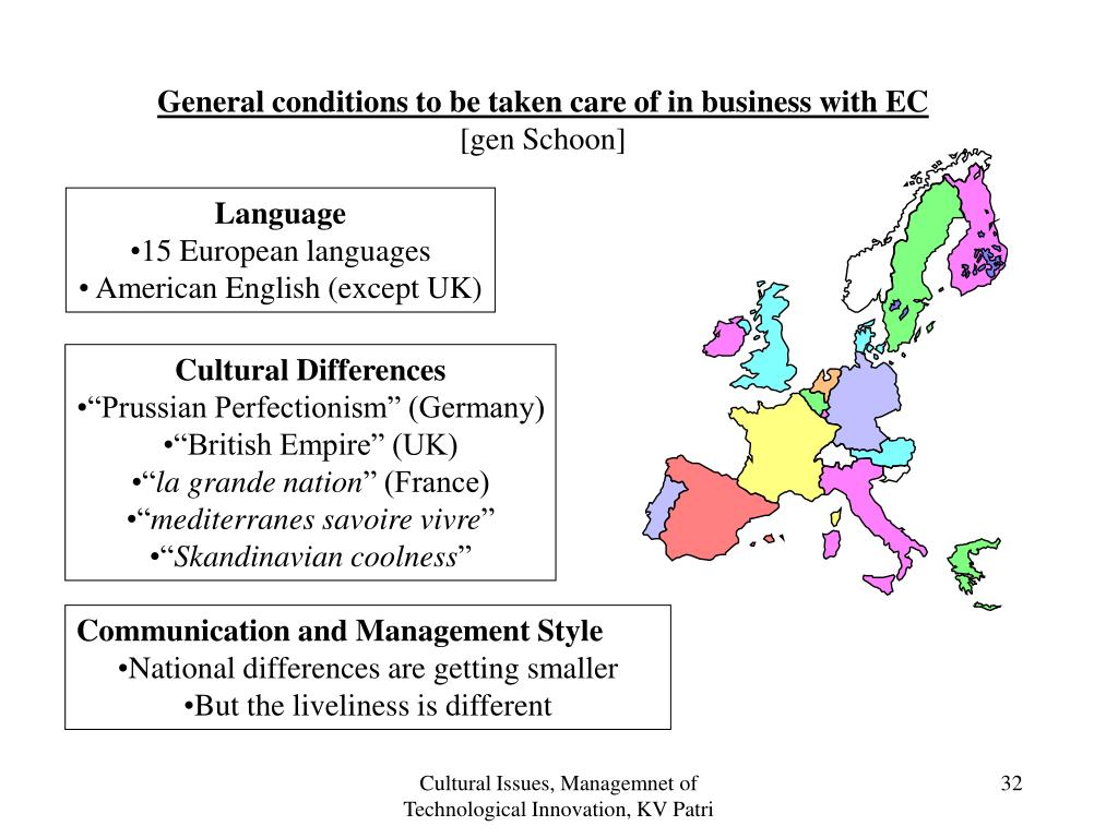 General conditions to be taken care of in business with EC