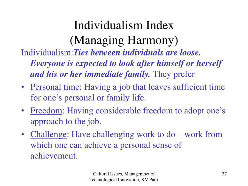 Individualism Index