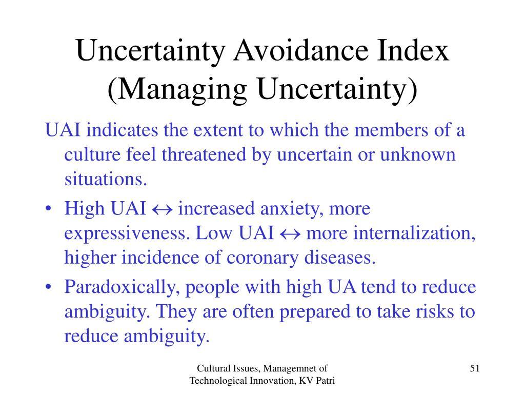 Uncertainty Avoidance Index