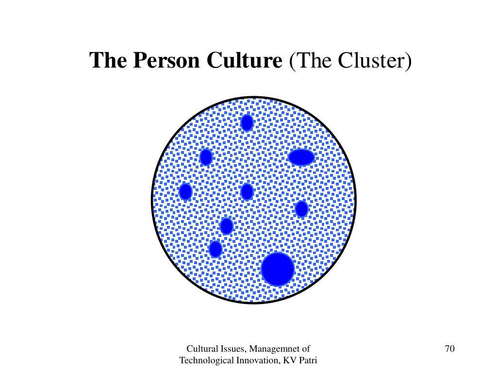 Cultural Issues, Managemnet of Technological Innovation, KV Patri