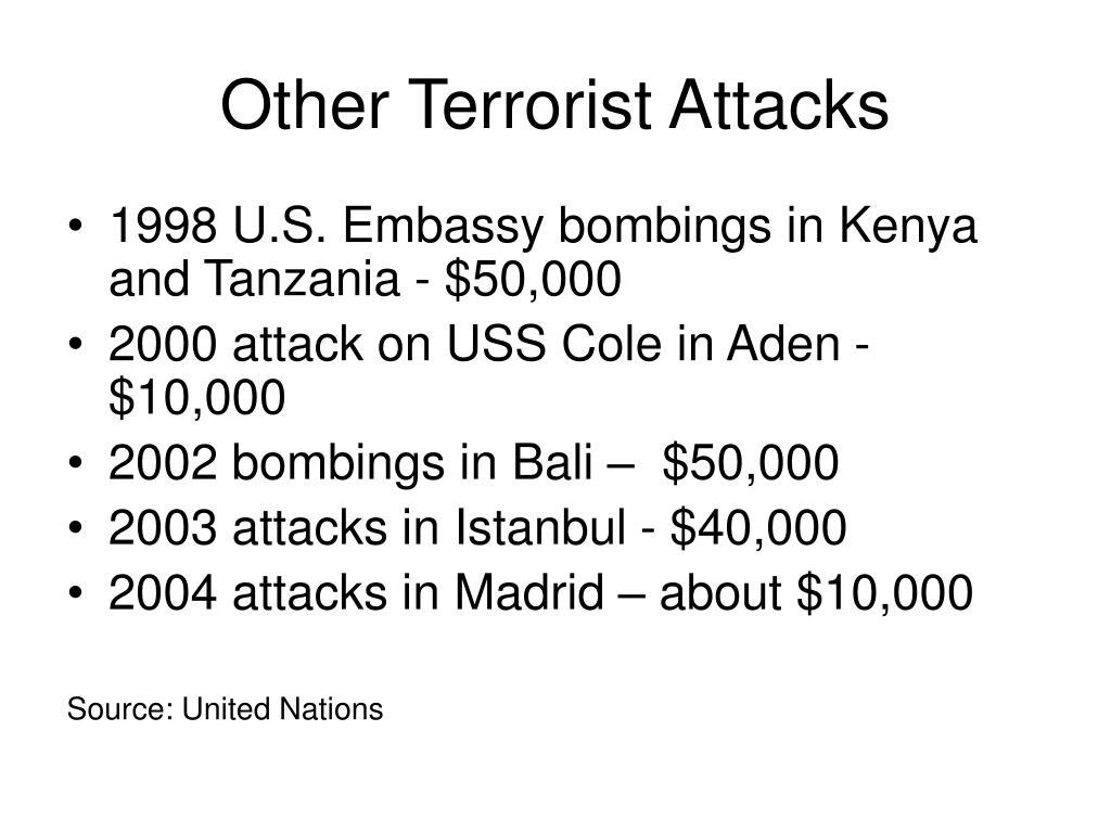 Other Terrorist Attacks