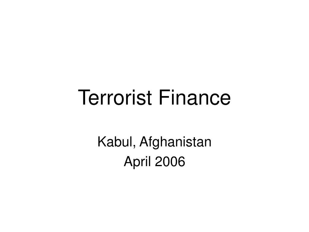 Terrorist Finance