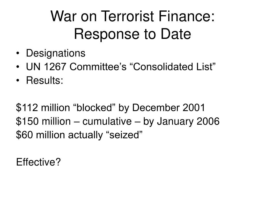 War on Terrorist Finance: