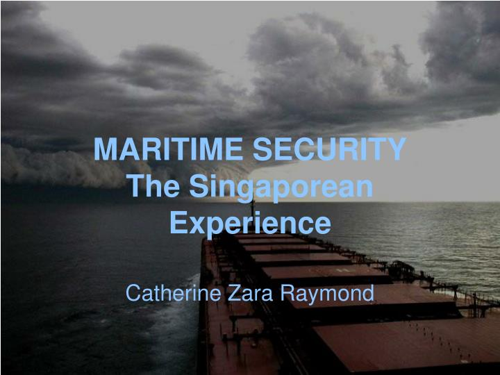 Maritime security the singaporean experience