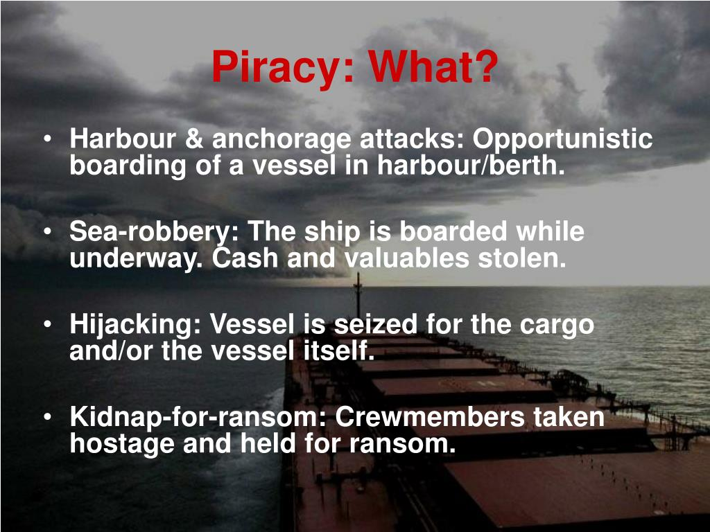 Piracy: What?