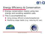 energy efficiency conservation