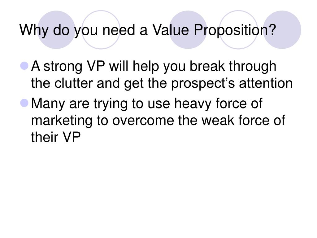 Why do you need a Value Proposition?