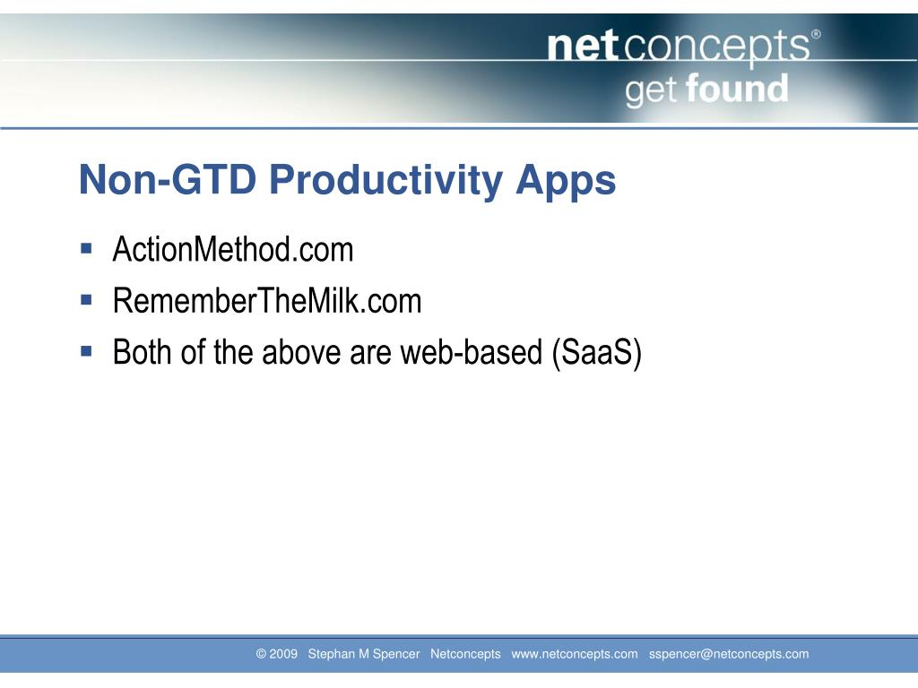 Non-GTD Productivity Apps