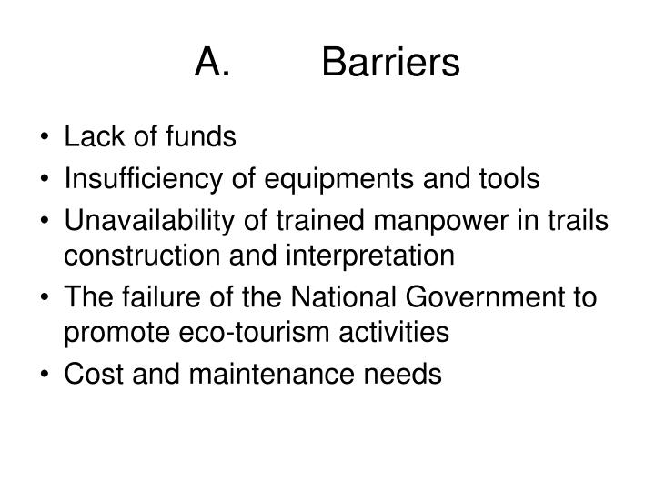 A barriers