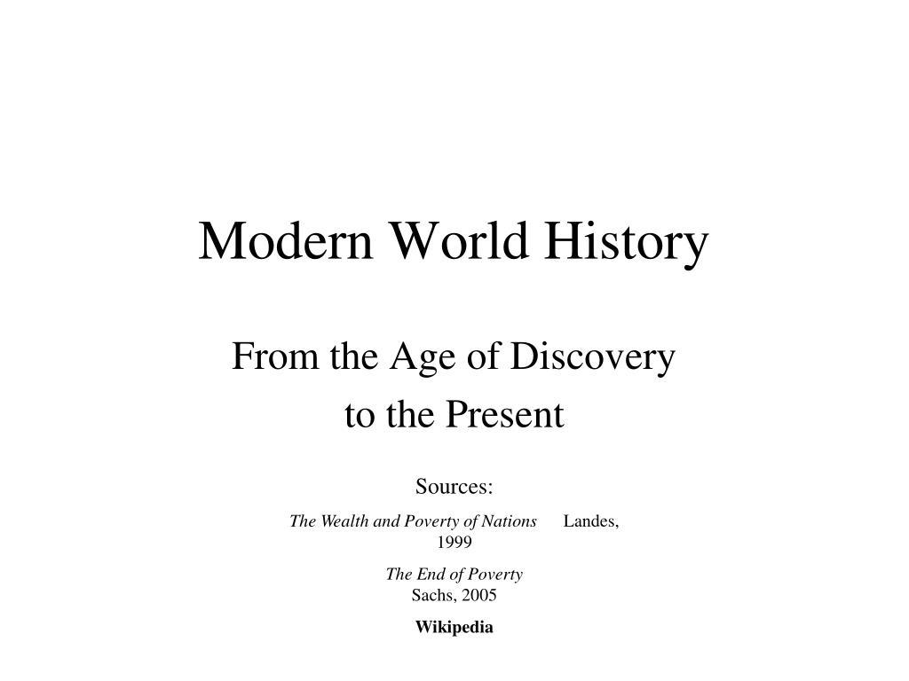 modern world history l.