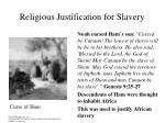 religious justification for slavery