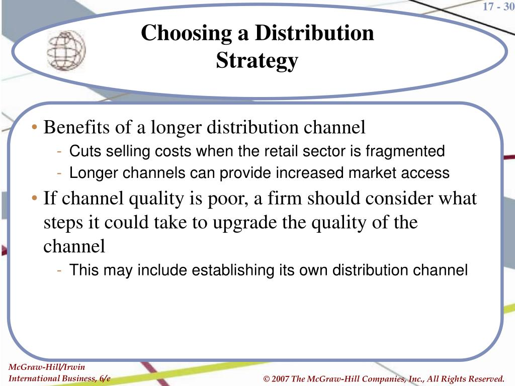 Benefits of a longer distribution channel