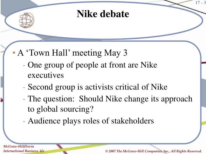 Nike debate