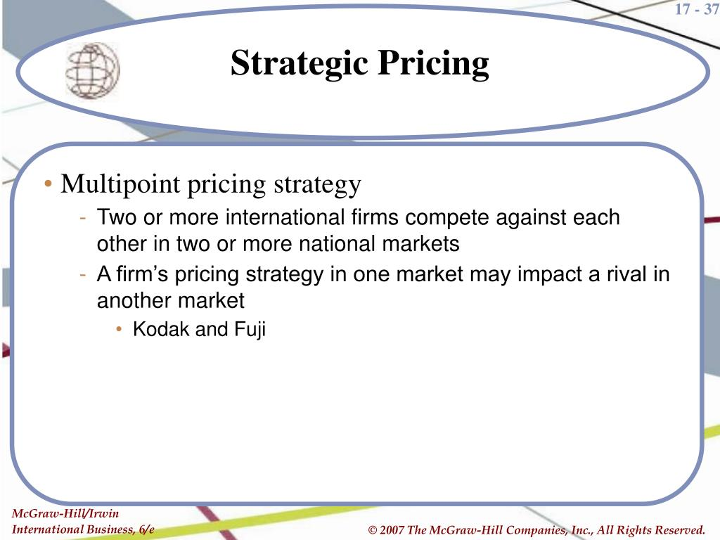 Multipoint pricing strategy