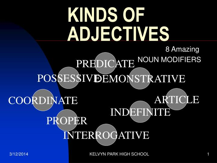 ppt kinds of adjectives powerpoint presentation id374991
